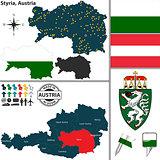 Map of Styria, Austria