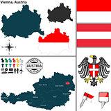 Map of Vienna, Austria