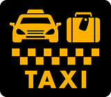 taxi blazon on black icon