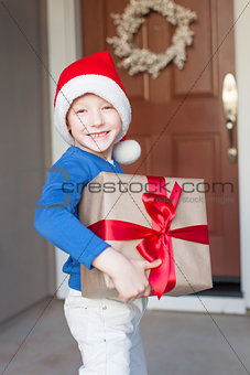 boy at christmas time