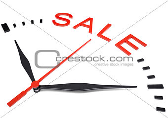 Clock with word sale