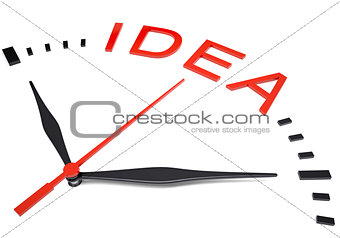 Clock with word idea