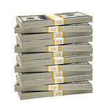 Big stack of dollar