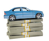 Car on bundle of money
