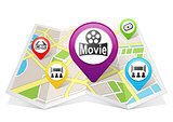 Cinema Map pointer Location Destination on map