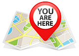 Red Map pointer Location Destination on map