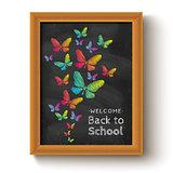 butterflys on chalkboard