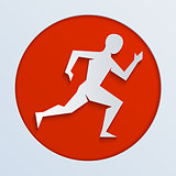 logo for a running