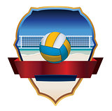 Beach Volleyball Emblem Illustration