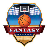 Fantasy Basketball Emblem Badge Illustration