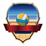 Volleyball Emblem Badge Illustration