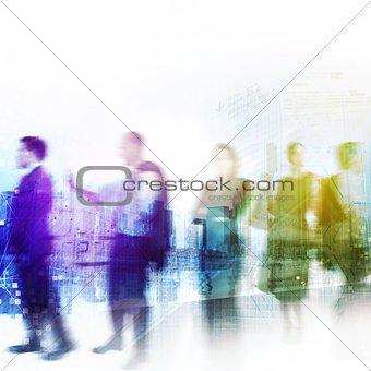 Business city life