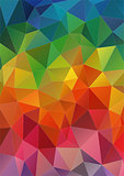 Abstract 2D geometric colorful background