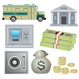 Set of bank objects.