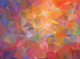 Abstract multicolored mosaic triangle background