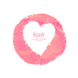 Heart vector watercolor banner