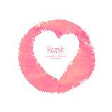 Heart vector watercolor banner