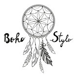 Indian Dream catcher. Boho style