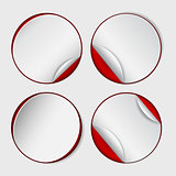 Blank, white round promotional sticker