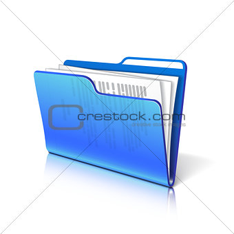 Folder with papers.