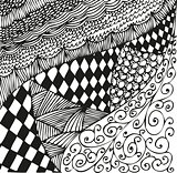 Background with doodling hand drawn patterns. Curls, waves, chessboard