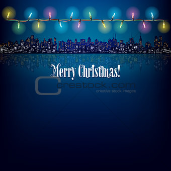abstract Christmas background with decoration