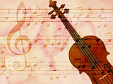 Soft grunge music background with violin