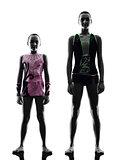 Rhythmic Gymnastics woman  little girl child  teenager silhouett