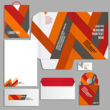 Gray corporate identity template