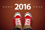 Happy New Year 2016 with Sneakers from Above