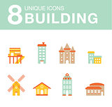 Set of icons houses.