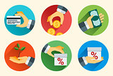 Flat design vector illustration concept for online services
