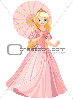 Beautiful princess at summer day