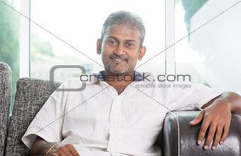Portrait of mature Indian man