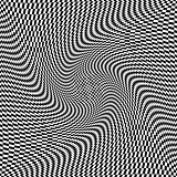 Op art twisting texture. Abstract flexible surface.