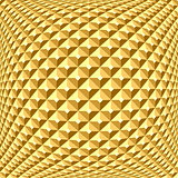Golden checked relief pattern. Textured background.