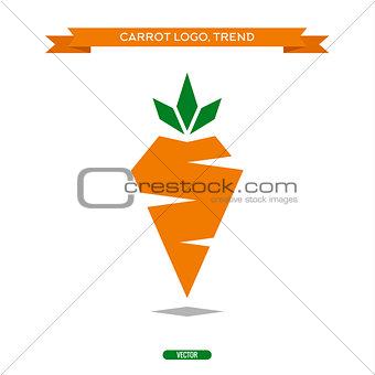 Carrots polygons trend logo icon vector style sign