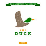Duck flying brand logo sign style trend