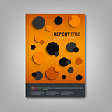 Brochures book or flyer with abstract circles template