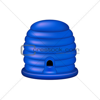 Bee house in blue design