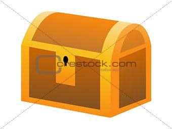 Closed treasure box