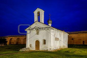 Small church at night