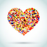 Rainbow Button Background Heart