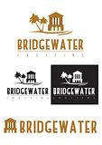 Logo icon of a bridge over water.