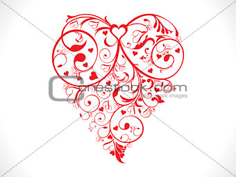 abstract artistic red valentine heart background