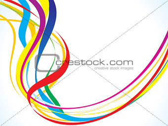 abstract rainbow curving wave