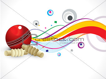 abstract colorful cricket background