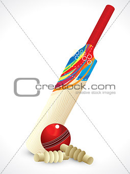 abstract detailed cricket bat