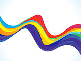 abstract spectrum colorful wave background