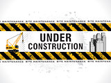 abstract grungy under construction background
